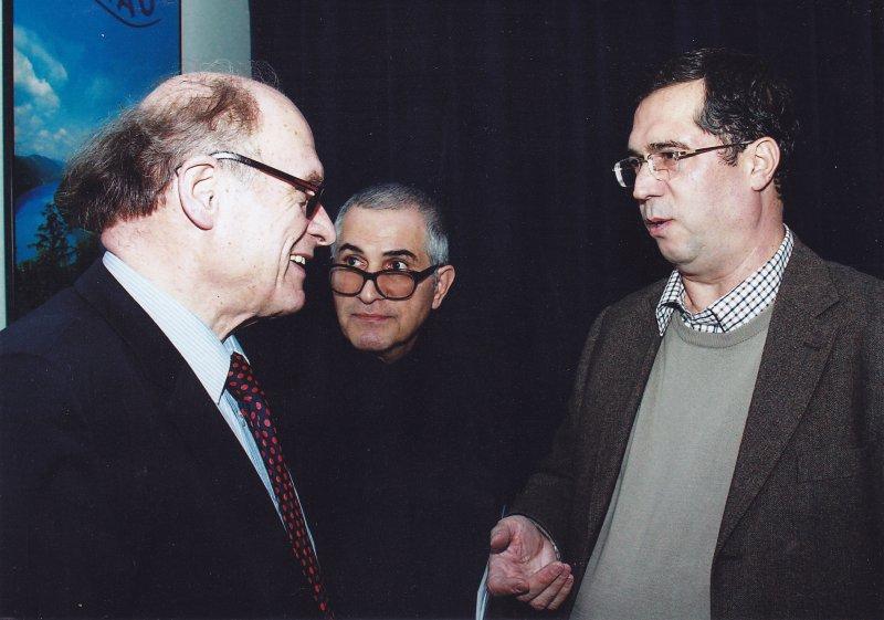 با پروفسور فراگنر و دکتر طهمورث ساجدی صبا در شب پورگشتال ـ اول اسفند 91