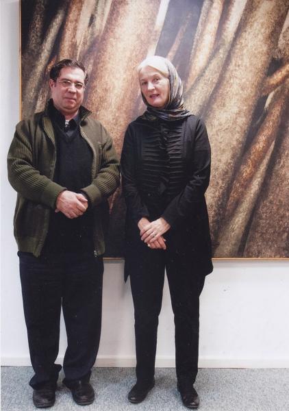 با دکتر شیلا کنبی ریاست بخش هنر اسلامی موزه متروپلیتن نیویورک ـ آبان 93