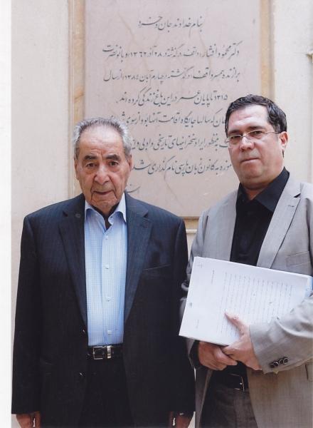 با دکتر ابراهیم تیموری در کانون زبان فارسی ـ مهر 1393