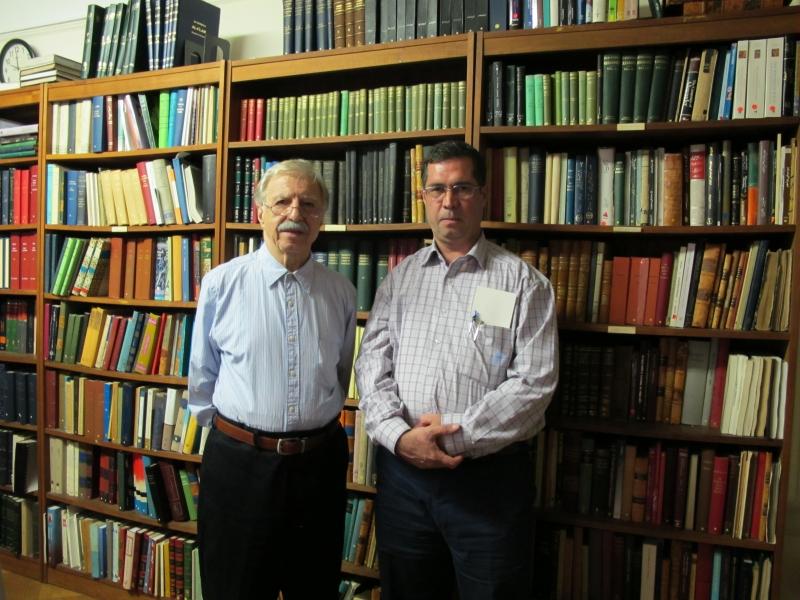 با دکتر احمد اشرف ـ کتابخانه دایره المعارف ایرانیکا اکتبر 2010