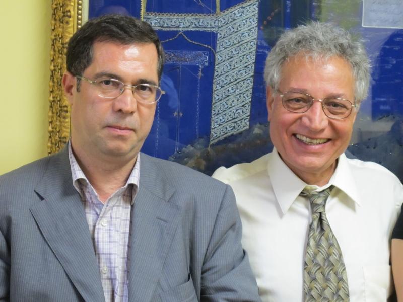 با دکتر احمد کریمی حکاک ـ مریلند اکتبر 2010