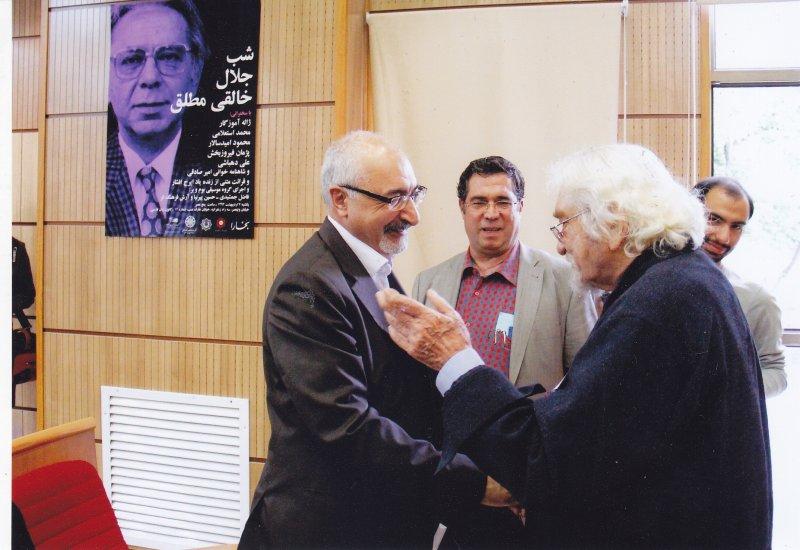 به همراه داریوش شایگان و محمود امیدسالار ـ اردیبهشت 1393
