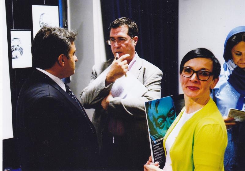 با گابریله یوئن ، ارفع علوی و مهشید میرمعزی در شب یوزف روت ـ دوشنبه 5 خرداد 93