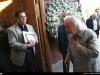 با دکتر محمد ملکی ( اولین رئیس دانشگاه تهران بعد از انقلاب اسلامی) در مجلس بزرگداشت دکتر باستانی پاریزی در مسجد جامع شهرک غرب ـ نهم فروردین 1393
