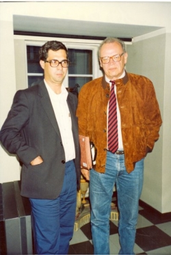 انجمن قلم دانمارک چهارشنبه 29 خرداد 1370 ـ 19 ژوئن 1991 با رئیس انجمن نیلس بارفورد