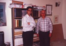 با دکتر محمد جعفر محجوب در کالیفرنیا تابستان 1370