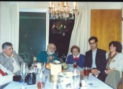 ـ برکلی ـ منزل صادق چوبک با سعیدی سیرجانی، قدسی چوبک، صادق چوبک و منیژه محامدی خرداد 1370 ( می 1991)