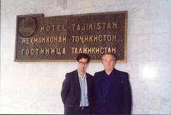 با پروفسور آلبرت خرموف تاجیکستان ـ آبان 1370