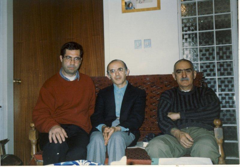 ایرج افشار ـ هاشم رجب زاده و علی دهباشی ـ اواخر دهه 1370
