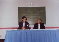 دانشگاه جرج واشنگتن ـ سخنرانی دربارۀ مطبوعات ادبی در ایران با حسین سرفراز ( تابستان 1370)