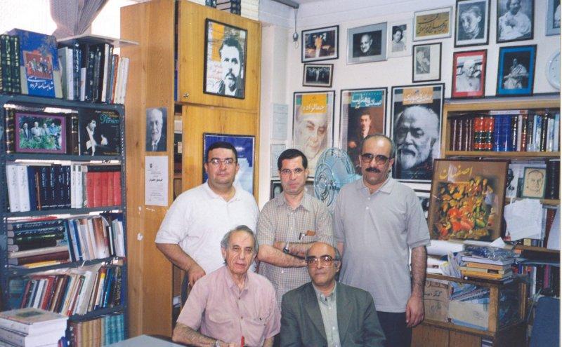 شهریور 1383 ـ سید فرید قاسمی، علی دهباشی ، احمد بورقانی ، عبدالکریم جربزدام و دکتر جلال ستاری