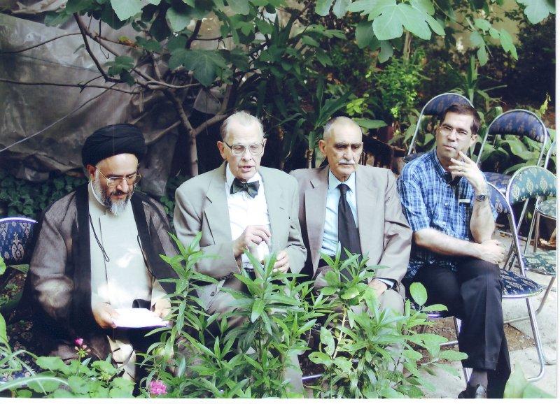 باغ موقوفات دکتر محمود افشار ( چهارشنبه سوم تیر 83 ) دهباشی، ایرج افشار، پروفسور فرای و دکتر محقق داماد