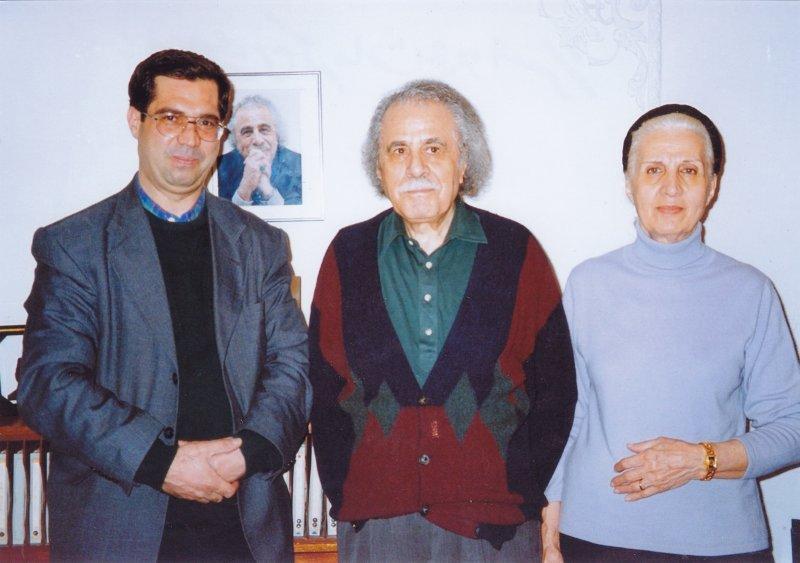 با معینی کرمانشاهی و همسرش ـ دهه 1380