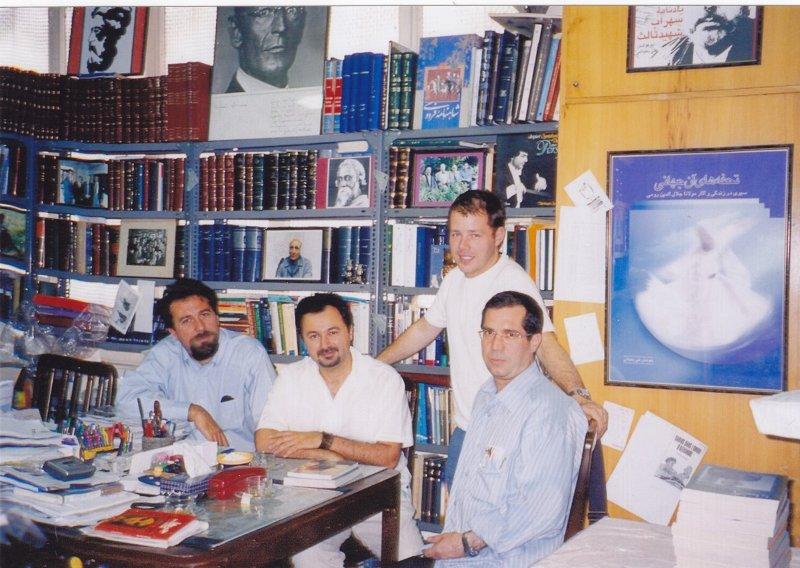 دفتر مجله بخارا ، علی دهباشی، کریستوفر دوبلگ، تورج دریایی و کارلو چرتی ـ 1385