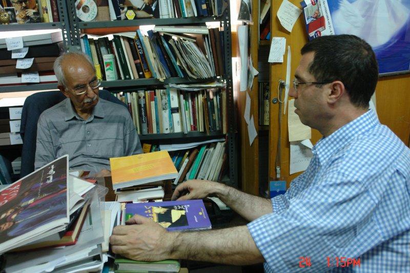 با دکتر محمد علی موحد در دفتر مجله بخارا خرداد 1387