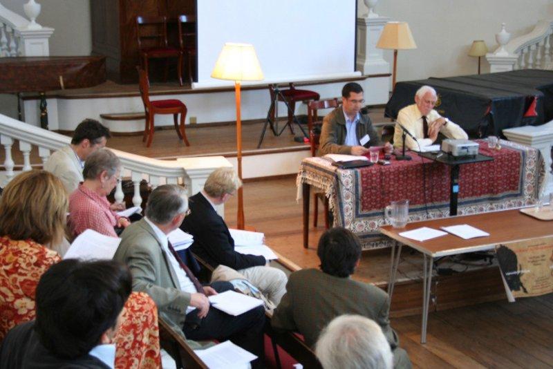 ـ صحنه ای از کنفرانس طلوع رنسانس ایرانی در دانشگاه آکسفورد ـ سه شنبه 25 تیر 1387 ( 15 جولای 2008، پروفسور ادموند باتورث و علی دهباشی