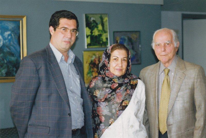 با مسعود برزین و مهین عظیما ـ پایان دهه 1380