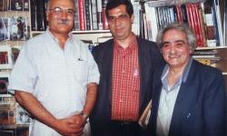 لس آنجلس ـ کتابفروشی دهخدا ـ از راست : عباس پهلوان ـ علی دهباشی ـ بیک زاده ـ 1379
