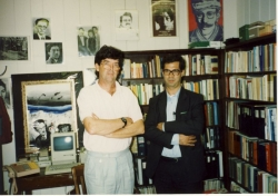 با مایکل هیلمن در کتابخانه دانشگاه آستین تگزاس ـ اواخر دهه 1360