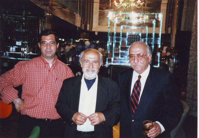 خرداد 79 ، لس آنجلس، کتابخانه سعدی ، تورج فرازمند ـ محمود عنایت و علی دهباشی
