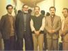 چهارشنبه 15 بهمن 1365 ـ از راست : مسعود میناوی ـ فرامرز سلیمانی ـ محمد مختاری ـ احمد محیط و علی دهباشی