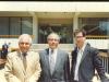 0035 دانشگاه کالیفرنیا ـ کنگره نظامی ـ خرداد 1370 ( می 1991) از راست : علی دهباشی، دکتر حمید محامدی و دکتر منوچهر امیری