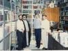 دفتر مجله کلک در خیابان فلسطین شمالی : دهباشی ، احمد آقایی ـ قمر غفار ـ رضا براهنی و اصغر عبداللهی ـ دهه 1360