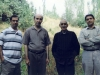 طلبی کاشانی، ایرج افشار، علی اشرف صادقی و علی دهباشی در کوشکک لورا ( تابستان 84)