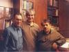 منزل دکتر محمد صنعتی ـ جمعه 26 آبان 1387 از راست: دکتر محمد صنعتی ـ دکتر یوسف ابازری و دکتر حسین پاینده ( عکس از  علی دهباشی )
