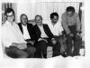 از راست: احمدرضا احمدی، ابراهیم حقیقی، محمد احصایی، ؟ و علی دهباشی ـ دهه 1360