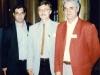 از راست: دکتر پیر بریان، دکتر بوشاقلار و علی دهباشی ـ اردیبهشت 79