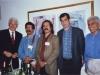 مریلند خرداد 79 ( ژوئن 2000) کنفرانس مطالعات ایرانی . از راست : مجید محمدی، دهباشی، محمد توکلی طرقی ـ حسین سامعی و پیتر چلکوفسکی