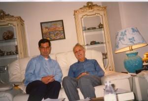 با دکتر عبدالحسین زرین کوب ـ لندن ، جمعه 31 شهریور 1374 ( 22 سپتامبر 1995) عکس از دکتر قمر آریان
