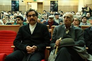 شهرام ناظری و دکتر محمد ابراهیم باستانی پاریزی ـ عکس از مجتبی سالک