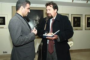 دکتر کارلو چرتی و دکتر مسعود غلامپور راد در شب جوآنی ماریا دِرمه ـ عکس از مجتبی سالک