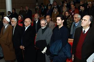 صحنه ای دیگر از بزرگداشت استاد متین رضا ـ عکس از مجتبی سالک