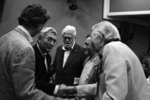 دکتر هوشنگ کاوسی در کنار سهراب فتوحی، سفیر فرانسه در ایران، دکتر احسان نراقی و جمشید ارجمند