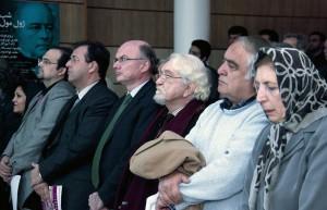 ژاله آموزگارـ حامد فولادوند ـ داریوش شایگان ـ هانری لوبرتون ـ برونو فوشه و آرمان کریمی گودرزی ـ عکس از سمیه لطفی