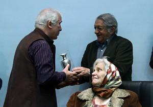 عزتالله انتظامی و خسرو سینایی ـ عکس از مجتبی سالک