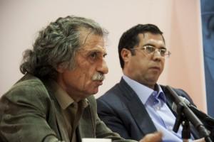 دکتر منوچهر سادات افسری و علی دهباشی ـ عکس از سمیه لطفی