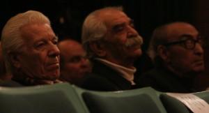 رضا سیدحسینی، ناصر نیرمحمدی و احسان اشراقی در مراسم شب رابیندرانات تاگور
