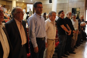 صحنه ای از بزرگداشت یاد و خاطره پرویز مرزبان ـ عکس از سمیه لطفی