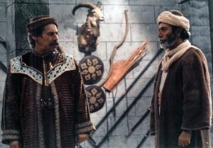 داوود رشیدی و علی نصیریان در سریال « گرگها» به کارگردانی داود میرباقری 1365