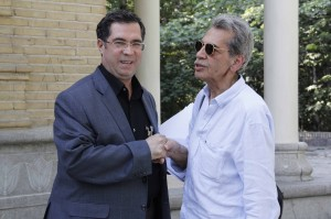 علی دهباشی به همراه کامبیز درمبخش ـ عکس از ژاله ستار