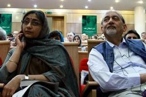 دی.پی . سری واستوا ( سفیر هند در ایران ) و همسرش ـ عکس از ژاله ستار