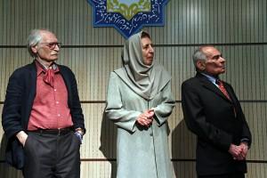 محمود دولت آبادی ، ژاله آموزگار و محمد رضا باطنی ـ عکس از مجتبی سالک