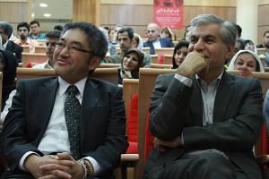 دکتر محمد حسین عادلی و توموهیرو ناکاگاکی ـ عکس از مجتبی سالک