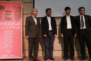 از راست : توموهیرو ناکاگاکی ، نوبواکی کندو، مسعود غلامپور و محمدحسین عادلی ـ عکس از مجتبی سالک