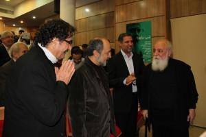 شهرام ناظری، داریوش طلایی و علی دیوانداری و سایه ـ عکس از مسیح آذرخش