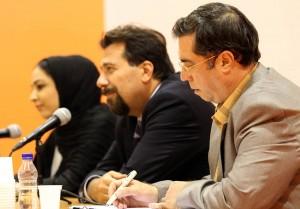 علی دهباشی، کارلو چرتی و حانیه اینانلو ـ عکس از محمدرضا مسگری